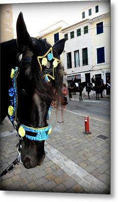 Metal Print featuring the photograph Menorca Horse 1 by Pedro Cardona