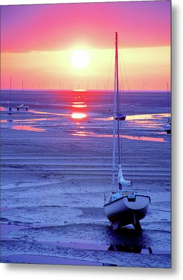 Meols Beach On The Wirral Metal Print by Duncan Rowe