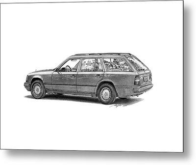 Mercedes-benz E-class Wagon Metal Print by Gabor Vida