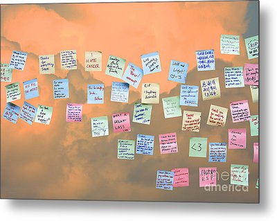 Messages In The Cloud . Rip Mr Steve Jobs . October 5 2011 . You Will Surely Be Missed Metal Print by Wingsdomain Art and Photography