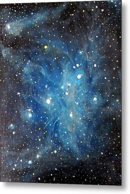Messier 45 Pleiades Constellation Metal Print by Alizey Khan