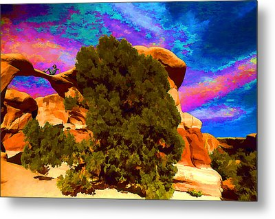Metal Print featuring the photograph Metate Arch Dream by Gregory Scott