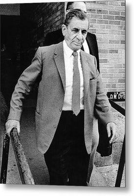 Meyer Lansky Leaves Federal Court July Metal Print by Everett