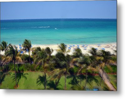 Metal Print featuring the photograph Miami Beach by Pravine Chester