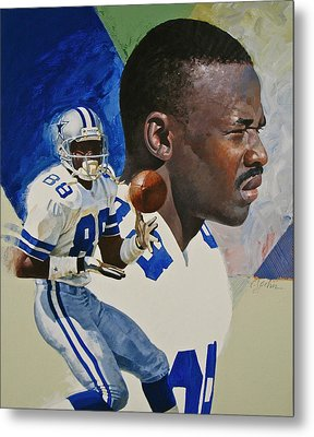 Michael Irvin Metal Print by Cliff Spohn