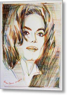 Michael Jackson - Indigo Child  Metal Print