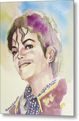 Michael Jackson - Mike Metal Print by Hitomi Osanai