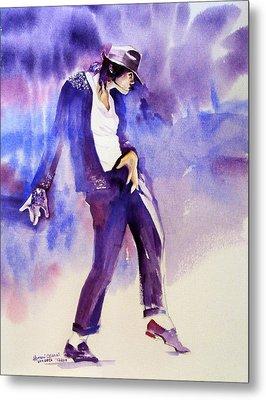 Michael Jackson - Not My Lover Metal Print by Hitomi Osanai