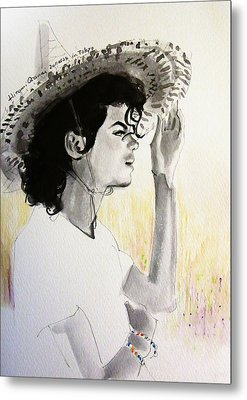 Michael Jackson - One Day In Your Life Metal Print by Hitomi Osanai