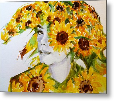 Michael Jackson - Sunflower Metal Print