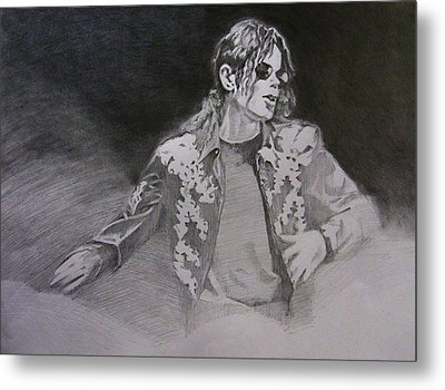 Michael Jackson - You Make Me Feel Metal Print by Hitomi Osanai