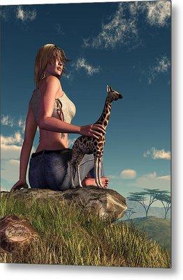 Miniature Giraffe Metal Print by Daniel Eskridge
