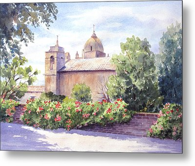 Mission At Carmel Metal Print