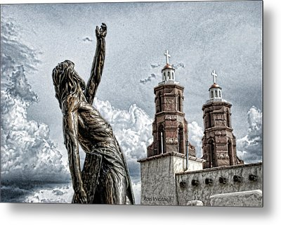 Mission At San Luis Metal Print