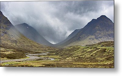 Misty Valley Metal Print