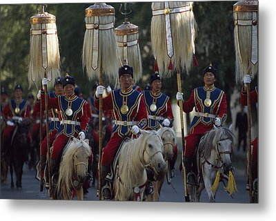 Mongol Armed Forces Metal Print by James L. Stanfield