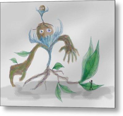 Monster Tree Metal Print by Sebopo Art