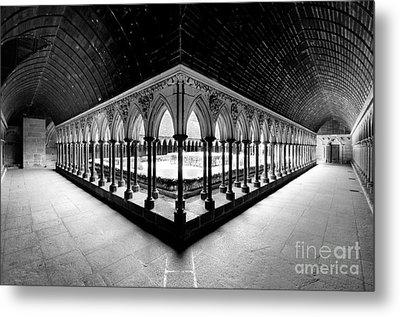 Mont Saint Michel Monastery Inner Court Metal Print