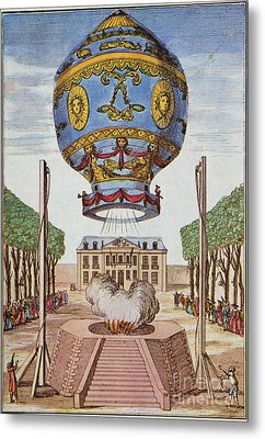 Montgolfier Hot Air Balloon Metal Print by Science Source