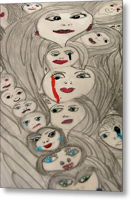 Moods Metal Print by HollyWood Creation By linda zanini