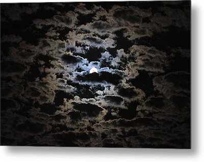 Moon And Clouds Metal Print by Paul Marto