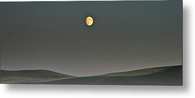Moon Over The Palouse Metal Print by Albert Seger