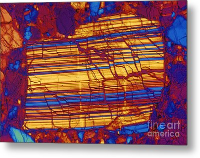 Moon Rock, Transmitted Light Micrograph Metal Print by Michael W. Davidson
