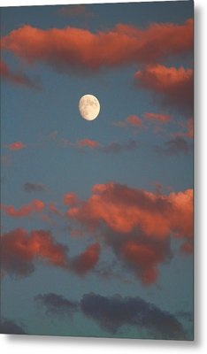Moon Sunset Vertical Image Metal Print by James BO  Insogna
