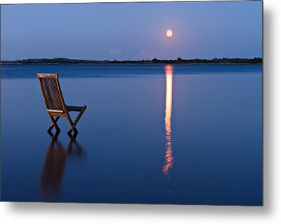 Moon View Metal Print