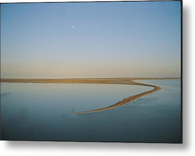 Moonrise Over Flooded Lake Metal Print by Jason Edwards