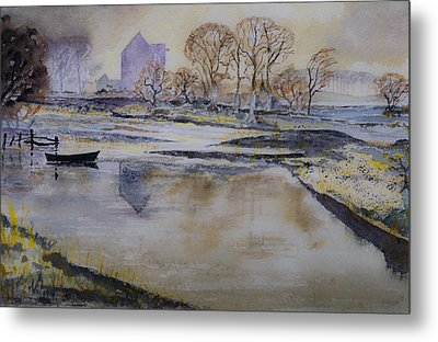 Metal Print featuring the painting Morning Calm by Rob Hemphill