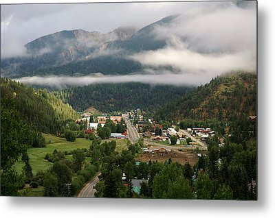 Morning Clouds Over Red River Metal Print