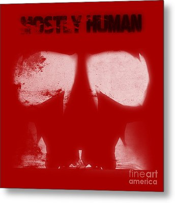 Mostly Human 2 Metal Print by Pixel  Chimp