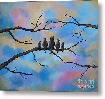 Metal Print featuring the painting Motherhood by Stacey Zimmerman