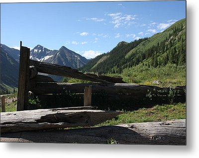 Mountain Ghost Town Metal Print by Marta Alfred