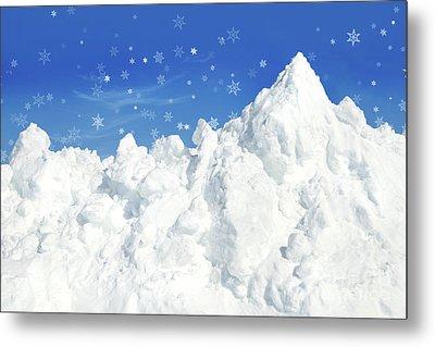 Mountain Of Snow Metal Print by Sandra Cunningham