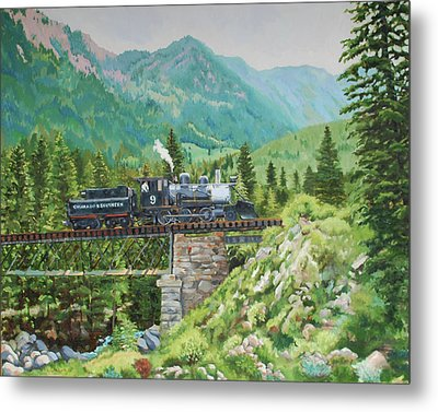 Mountain Railroad Metal Print