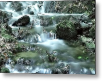 Mountain River Dream Metal Print by Odon Czintos