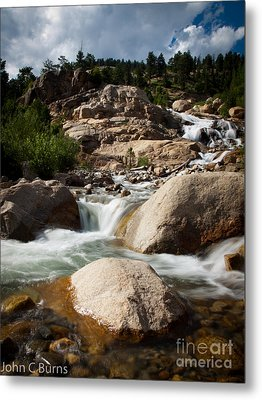 Metal Print featuring the photograph Mountain Stream by John Burns