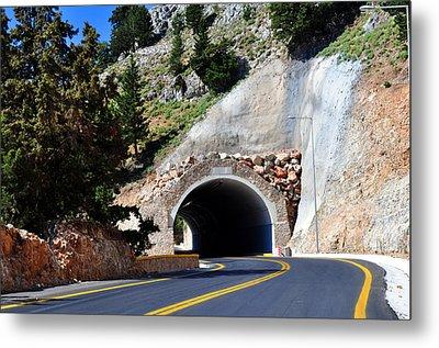 Mountain Tunnel. Metal Print by Fernando Barozza