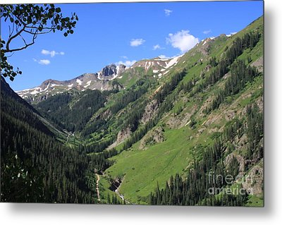 Mountain Valley Metal Print by Marta Alfred