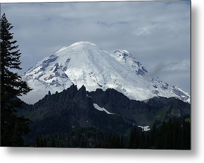 Mt. Rainier Metal Print by Jerry Cahill
