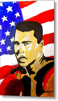 Muhammad Ali Metal Print by Estelle BRETON-MAYA