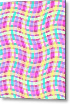 Multi Check Metal Print