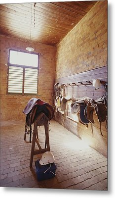 Mundiwa Station Tack Room Metal Print by Jason Edwards