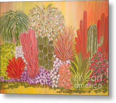 My Cactus Garden Metal Print