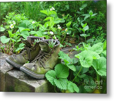 Metal Print featuring the photograph My Favorite Boots by Nancy Patterson