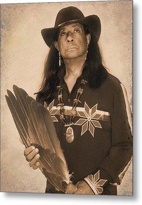 Native American Seer Metal Print by Benjamin  Thomas