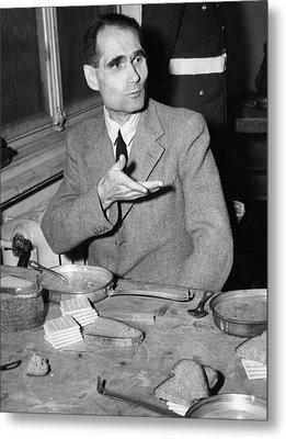 Nazi War Criminal Rudolph Hess Eating Metal Print by Everett