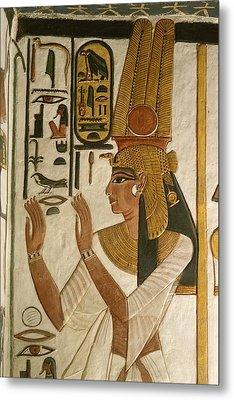 Nefertari Tomb Scenes, Valley Metal Print by Kenneth Garrett